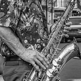 Steve Harrington - Sax Man - bw