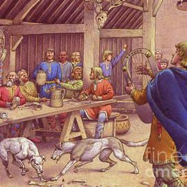 Saxons carousing  - Pat Nicolle