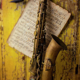 Saxophone Hanging On Old Wall - Garry Gay