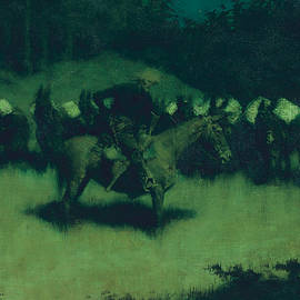 Scare in a Pack Train - Frederic Remington