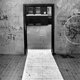Yuri Lev - School Yard Doorway in Brooklyn