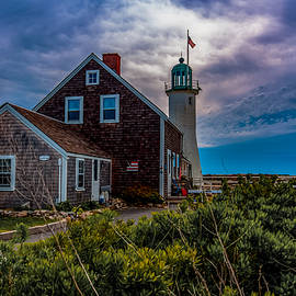 Brian MacLean - Scituate Lighthouse under Clouds