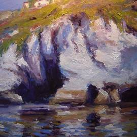 R W Goetting - Sea cliffs in afternoon light