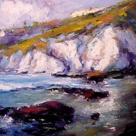 R W Goetting - Sea cliffs in the sun