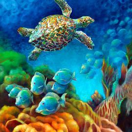 Nancy Tilles - Sea Escape III - Gemstone Hawksbill Turtle