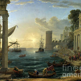 Claude Gellee - Seaport with the Embarkation of the Queen of Sheba