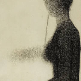 Seated Woman with a Parasol  - Georges Pierre Seurat