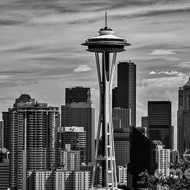 Kirt Tisdale - Seattle Skyline In Black and White