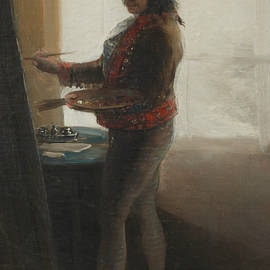 Self-Portrait at the Easel - Francisco Goya