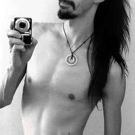 Shawn Dall - Self Portrait The Mirror BW
