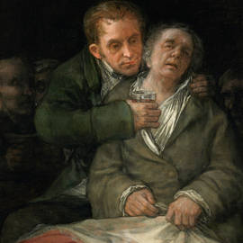 Self-Portrait with Dr. Arrieta - Francisco Goya