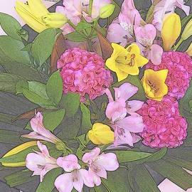 Dianne Pettingell - Semi sketch bouquet