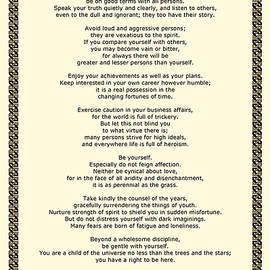 Desiderata Gallery - Sepia Chain Desiderata Poem