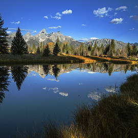 Vishwanath Bhat - Serene Autumn Morning at Grand Tetons