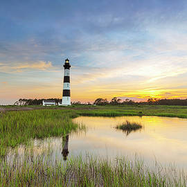 Xavier Ascanio - Setting Sun at Bodie Island Lighthouse