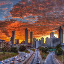 Reid Callaway - Shadows In The Sky Atlanta Downtown Sunset