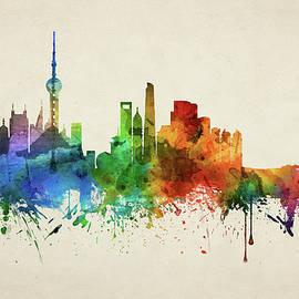 Shanghai Skyline CHSH05 - Aged Pixel
