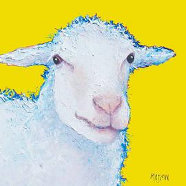 Jan Matson - Sheep Painting on yellow background