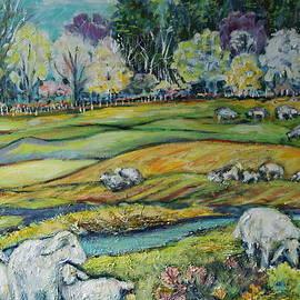 Susan Brown    Slizys art signature name - Sheep