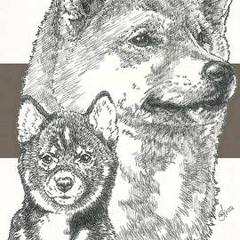 Barbara Keith - Shiba Inu Father and Son