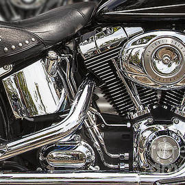 Jerry Cowart - Shinny Harley-Davidson Motorcycle In Chrome