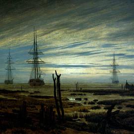Ships at Anchor - Caspar David Friedrich