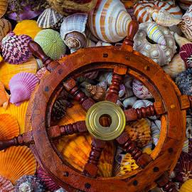 Ships Wheel Among Seashells - Garry Gay