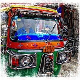 Sue Jacobi - Shopping Bazaar Exotic Travel Street Scenes Tuk tuks Rajasthan India Series 3