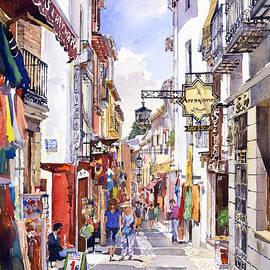 Margaret Merry - Shops in the Albaicin Granada