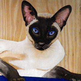 Debbie LaFrance - Siamese Cat painted on wood