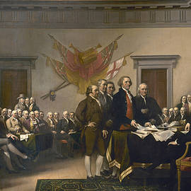 Signing the Declaration of Independence, July 4th, 1776 - John Trumbull