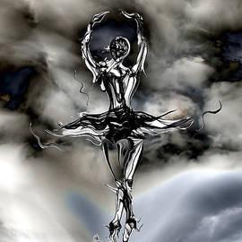 Abstract Angel Artist Stephen K - Silhouette Storm Dancer