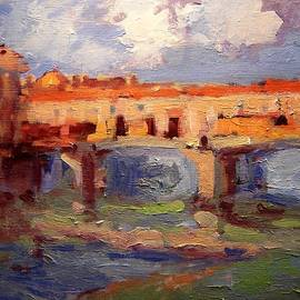 R W Goetting - Sketch for Ponte Vecchio in afternoon light