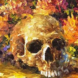 Leonid Afremov - Skull Of Memories - PALETTE KNIFE Oil Painting On Canvas By Leonid Afremov