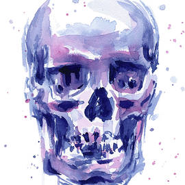 Skull Watercolor - Olga Shvartsur