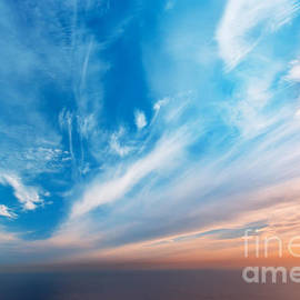Sky background on sunset. Nature composition. - djgis