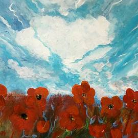 Christina Schott - Sky With Poppies