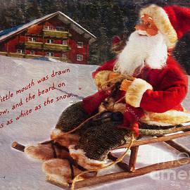 Kathryn Strick - Sledding Santa Card 2015