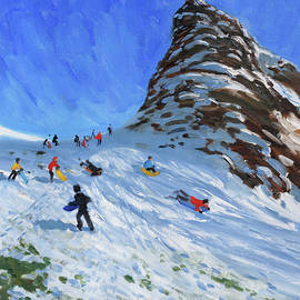 Sledging, Chrome Hill, Derbyshire, Peak District - Andrew Macara