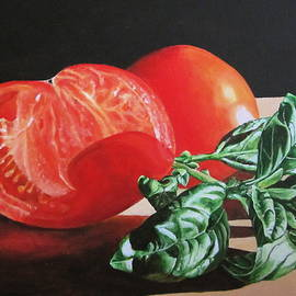 Lillian  Bell - Sliced tomato and Basil