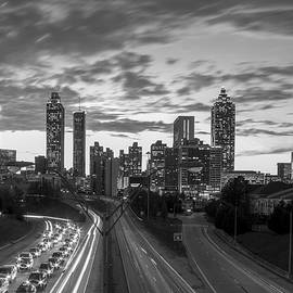 Reid Callaway - Slow Go Home Atlanta Downtown Black and White Art