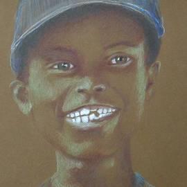 Jayne Somogy - Small Boy, Big Grin -- Retro Portrait of Black Boy