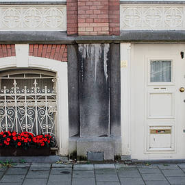 Thomas Marchessault - Small Door and Flower Box  Amsterdam