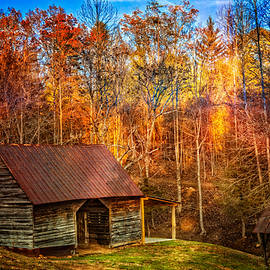Debra and Dave Vanderlaan - Smoky Mountain Barn in Autumn
