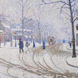 Snow, Boulevard de Clichy, Paris - Paul Signac
