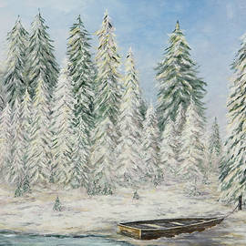 Mary Ann King - Snow Scene with Boat