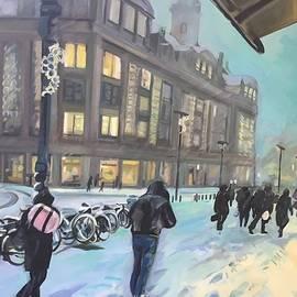 Plum Ovelgonne - Snow Storm in Amsterdam