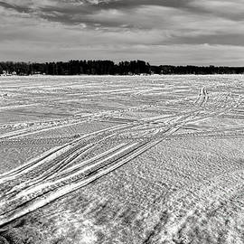 Snowmobile Tracks on China Lake - Olivier Le Queinec