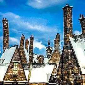 Gary Keesler - Snowy Hogsmeade Village Rooftops