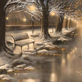 Snowy night - Veronica Minozzi
